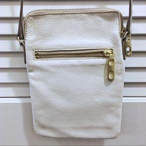 Gap white cow leather crossbody bag